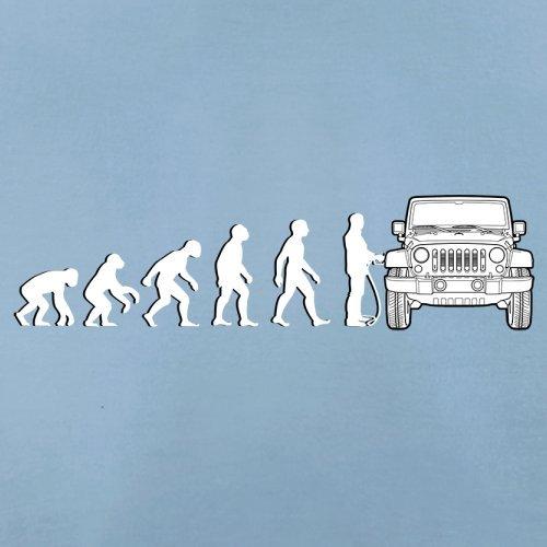 Evolution of Man - Jeep Fahrer - Herren T-Shirt - 13 Farben Himmelblau