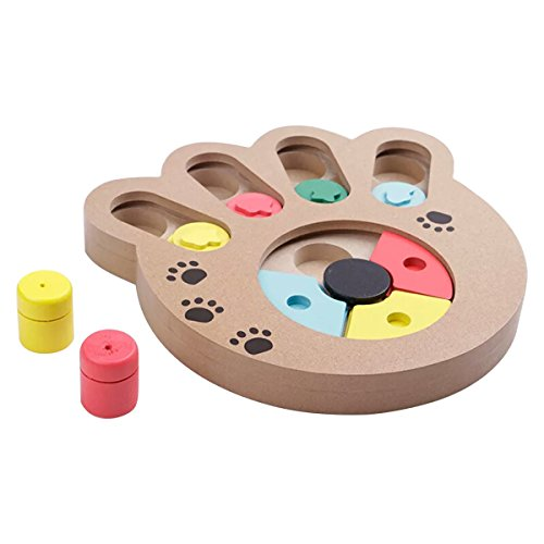 Splink Hunde Intelligenzspielzeug Strategiespiel Hunde IQ Interaktives Spielzeug Doggy Brain Train 2in1 Activity Spiel