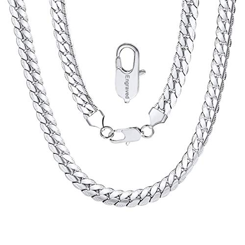 ChainsPro Name Initiale Alphabet Buchstaben ohne Anhänger Edelstah Halskette für Damen Herren Farbe Gold mit 30