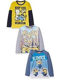 FABTASTICS Camisa Manga Larga Niños, Pack de 3
