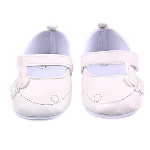 Etopfashion Neugeborene Baby-M?dchen-erste Wanderer-nette Schmetterlings-Prinzessin Mary Jane-Schuhe White