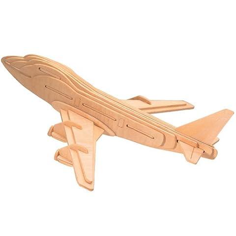 Boeing 747 Holzbausatz Flugzeug Flieger Holz Steckpuzzle Holzpuzzle Kinder P039