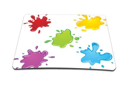 Luxburg® Design Mousepad Mausunterlage Mauspad, Motiv: Farbkleckse