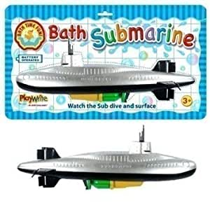 Playwrite Children's Bath Time Fun Scuba Battery Operated Water Submarine Boat Toddler Toys