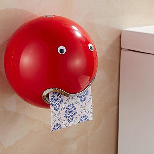 """Preisvergleich Produktbild DOLDOA Kreative Emoji Toilettenpapierhalter Wasserdichte WC-Rollenhalter Klopapierhalter (18, 5 x 18, 5 cm / 7, 28 """"x 7, 28"""",  Rot - Toilettenpapierhalter)"""