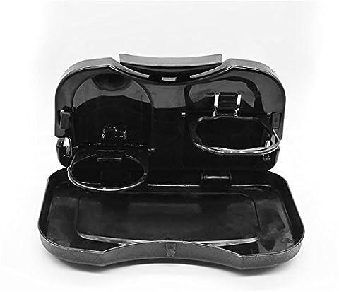 Automobil-Rücksitz-faltbarer Wasser-Schalen-Halter-Auto-Platten-Multifunktions-Getränke-Schalen-Halter-Auto-Innenraum-Behälter-Behälter , black