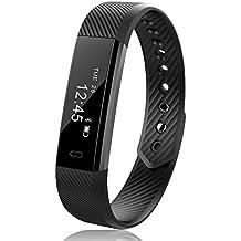 joygeek Fitness pulsera Smart Tracker contador de paso contador de calorías Monitor de sueño inalámbrico USB de carga Bluetooth pulsera inteligente para ios & android teléfono