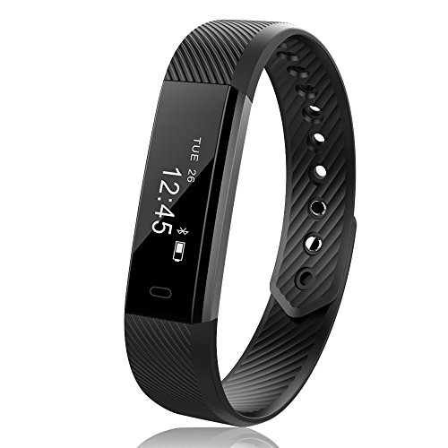 JoyGeek Smart Bracelet, Smart Watch, Fitness Tracker with Wireless USB Charging Pedometer Sleep Monitor and Call/SMS Reminder for iPhone 6/6 plus/7/7 plus Samsung S7/note 7/S8