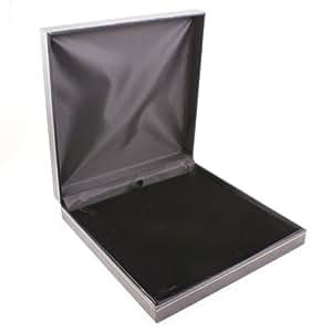 Jet Leatherette Large Necklace/Sets Box