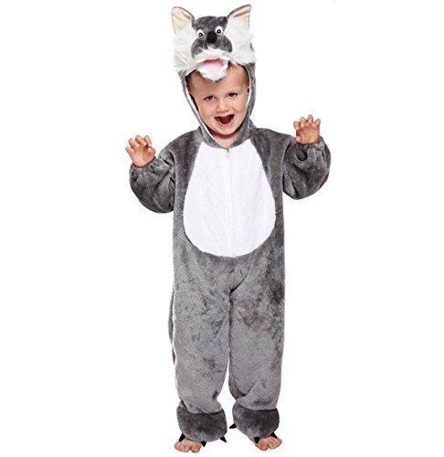 Mädchen Jungen Kinder Kinder Großer böser Wolf büchertag Halloween Kostüm Kleid Outfit 3 Jahre