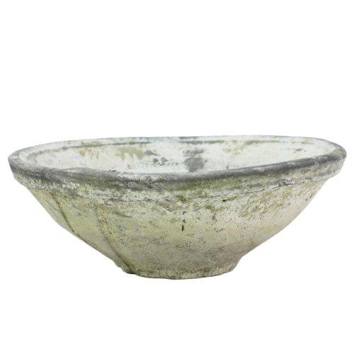 HomArt Terra Cotta Schüssel, rustikal, mittelgroß, Weiß Oval, Terra-cotta