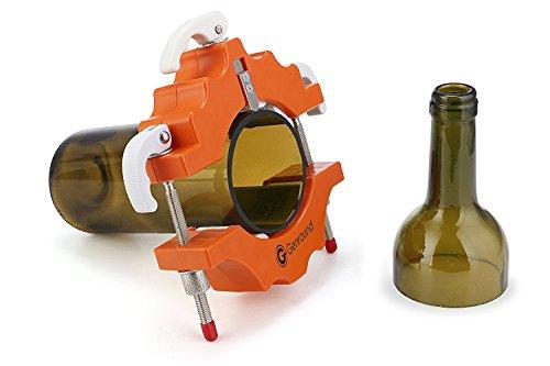 Glasflaschenschneider, Genround Flaschenschneider Glas Glass Bottle Cutter Maschine Weinflasche Glasflaschen Schneider Glasschneider Schneidwerkzeug Kit-Orange (Kochen Glaswaren)