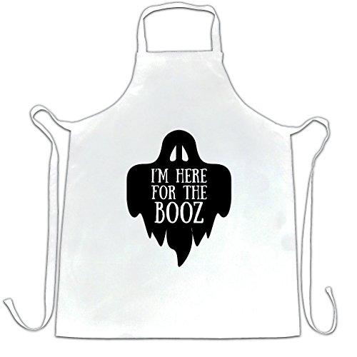 lustige Halloween Schürze des Chefs Ich bin hier für den Booz-Witz White One Size