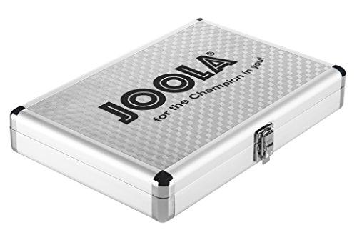 JOOLA Tischtennis-Hülle Alukoffer, Silber, 80541