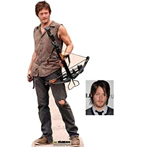 Daryl Dixon von The Walking Dead Lebensgrosse Pappfiguren / Stehplatzinhaber / Aufsteller (Norman Reedus) - Enthält 8X10 (25X20Cm) starfoto