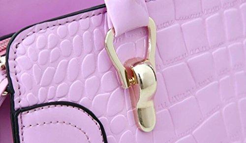 Borsa Tracolla Messenger Bag In Rilievo Borse Alla Moda In Vernice Regali Di Natale Brown