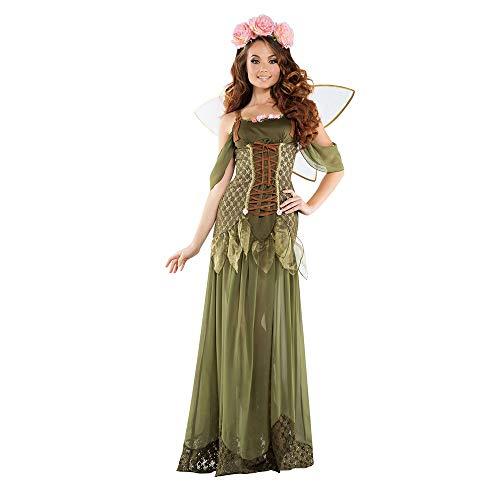 Flower Kostüm Fairy Frauen - Xgfsd Halloween Flower Cosplay spielt die Bühne Kostüm Fairy Halloween-Kostüm for Frauen - Adult Fancy Forest Fairy Tale Patin Kostüm (Größe : M)