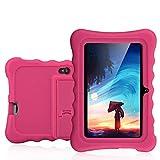Ainol Q88 Tablet para Niños,Android 7.1, 1GB RAM + 16GB ROM,Resolución de 1024*600 Píxeles,Soporte de Funda de Silicona,Facilitando Educación y Entretenimiento para Niños,Color Rojo Rosa