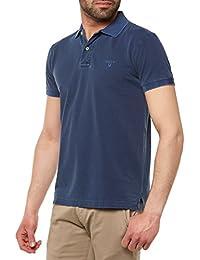 Gant Sun blanchis Pique Polo Shirt Persan Bleu