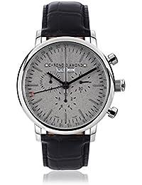 Chrono Diamond 82082_grau-44 mm - Reloj para hombres, correa de metal color negro