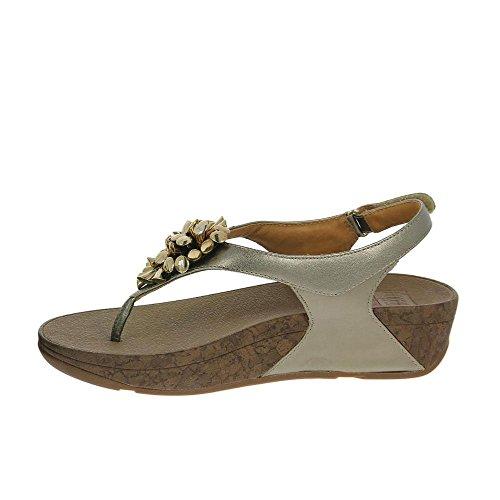Sandales De FitFlop Blossom Ii En Bronze Suede Bronze
