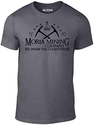 Reality Glitch Herren Moria Mining Company T-Shirt (Dunkelgrau, Groß)