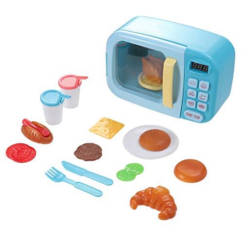 TOYANDONA Los hornos de microondas para niños simulan Juguetes de Comida Falsos, Juguetes de Cocina...