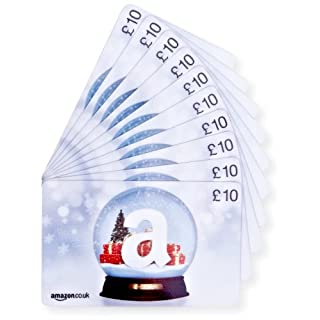 Amazon.co.uk £10 Gift Cards - 10-Pack (Christmas Globe)