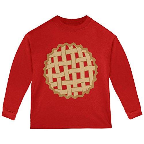 Halloween Gitter Pie Kostüm Erdbeere Kirsche Kleinkind Langarm T-Shirt Rot 2 t (Kleinkind-halloween-kostüm Erdbeere)