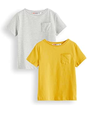 RED WAGON Camiseta de Algodón para Niños, Pack de 2