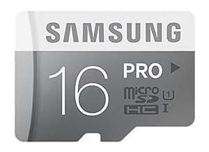 Samsung SMMICROSDPRO16 Micro Scheda SD Pro da 16GB, Argento