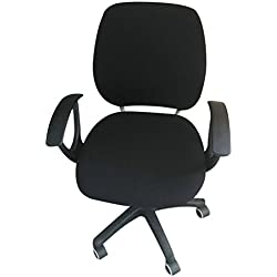 Dongfang Removable Chair Covers Elastic Chair Slipcover Protector for Office Rotating Swivel Computer Chair Black