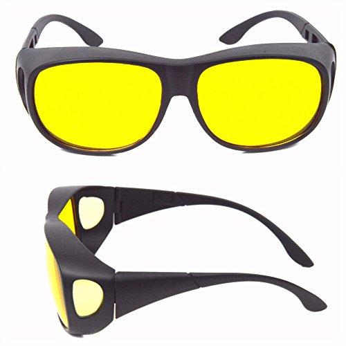 Kontrast-Brille Nachtfahrbrille Gelbe Gläser Night Driving Glasses Brille