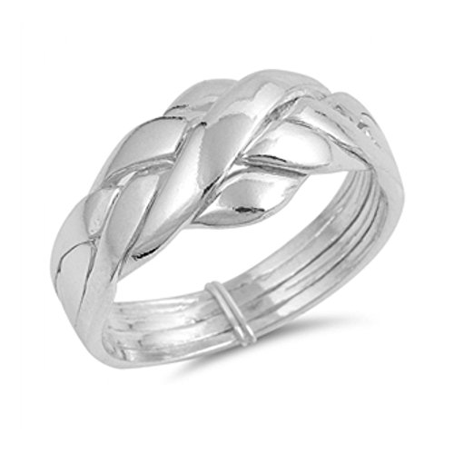 Ring aus Sterlingsilber - Puzzle