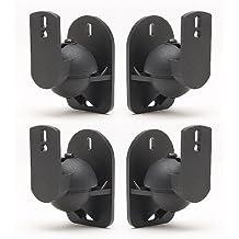 TechSol Pack de 4 Negro Altavoz universal para montaje en pared soportes