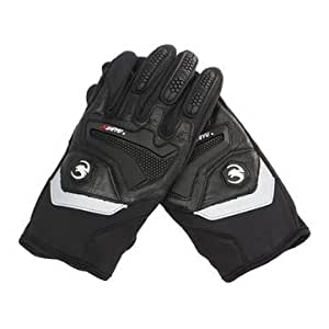 Generic Motorcycle Racing Cycling Protection Full Finger Gloves Skiing Reflective-Black-XL