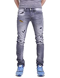 True Religion Herren Jeans Rocco Relaxed Skinny M15UD01B2I im Vintage-Look