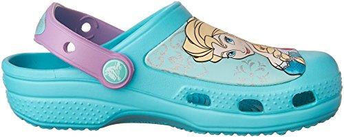 crocs - CCFrozenClog, Zoccoli per bambine e ragazze Blu (Pool)
