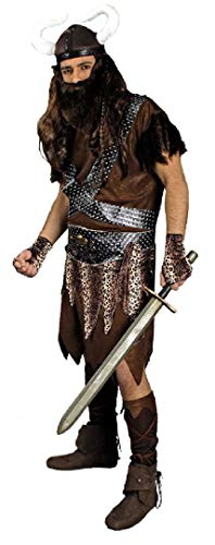 K31250306-46-48 braun Herren Wikinger Kostüm Barbar Gr.46-48 (Barbar Kostüm)