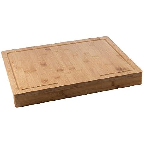 Levivo Planche à découper en bois de bambou avec coins rembourrés