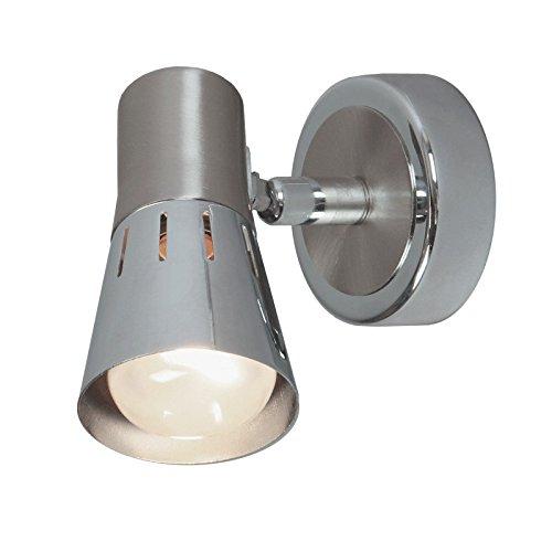 DeMarkt 505020101 Spot Mural Applique à Une Lampe Réglable De Style Moderne en Métal couleur Chrome pour Chambre Couloir Salle de Bain 1x40W E14