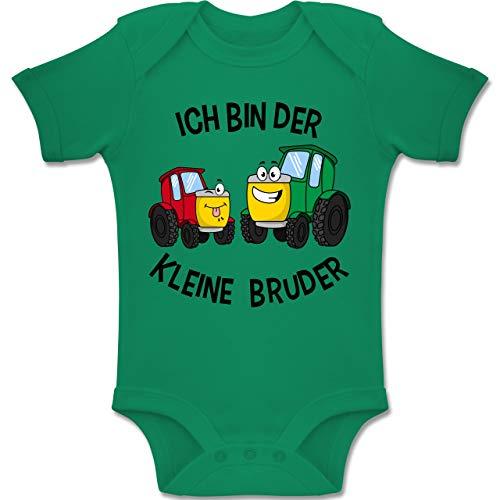 Shirtracer Geschwisterliebe Baby - Ich Bin der kleine Bruder Traktor - 3-6 Monate - Grün - BZ10 - Baby Body Kurzarm Jungen Mädchen (Neugeborenen Traktor Kleidung)