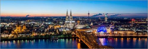 Posterlounge Acrylglasbild 180 x 60 cm: Köln Skyline von euregiophoto - Wandbild, Acryl Glasbild, Druck auf Acryl Glas Bild