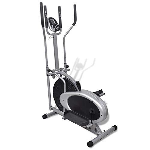 Nishore Fahrradtrainer, Heimtrainer, faltbares Fitnessfahrrad mit LCD-Display, klappbar, belastbar bis 100 kg, Schwarz