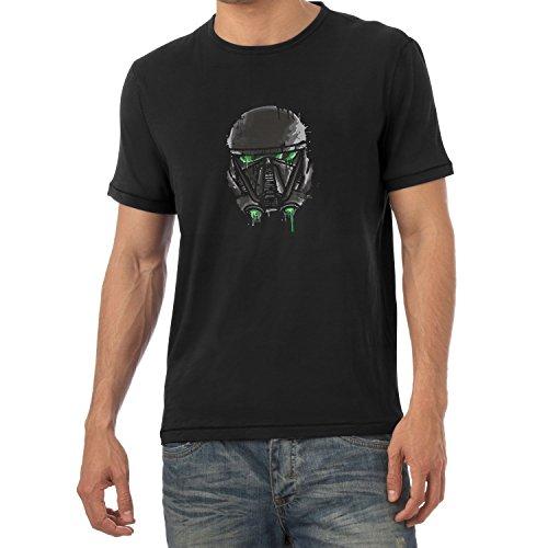 Texlab Empire Pilot Helmet Painting - Herren T-Shirt, Größe XXL, Schwarz (Ausgeschnitten Darth Vader)