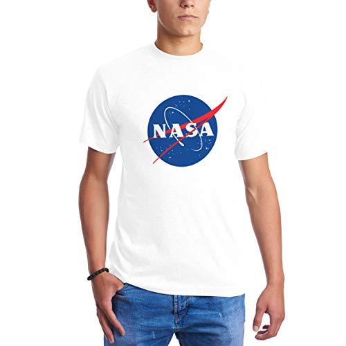 NASA Space Astronaut Geek Nerd Logo Blanca Camisetas para Hombre L