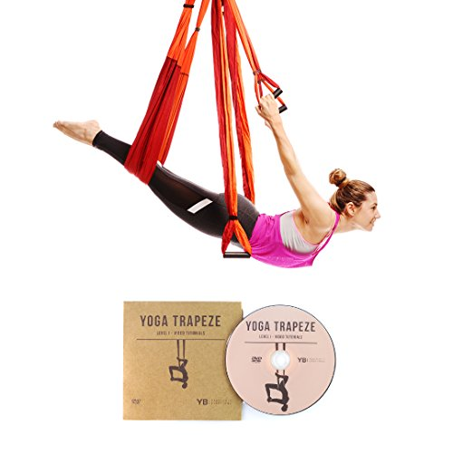 YOGABODY Yoga Trapecio Naranja - Yoga swing, Yoga Sling,...