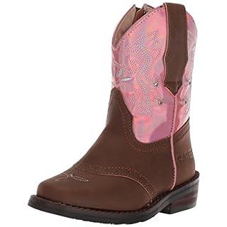 Adtec Baby CI-5017 Western Boot, Pink/Brown, 12 Medium US Toddler