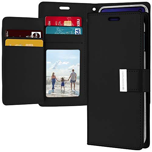 Schutzhülle für Galaxy S10e (Brieftaschen-Format, mit extra Kartenfächern), PU-Leder, schwarz Verizon Cell Phone Cover