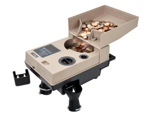 Grüner Kompaktes und tragbares Münzzähler/off-sorter (C500) - E-geld-sorter